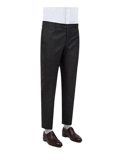 TWN Slim Fit Kareli Kumaş Pantolon Siyah